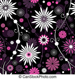 floral model, seamless, (vector)