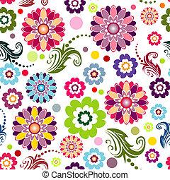 floral model, seamless, (vector), levendig