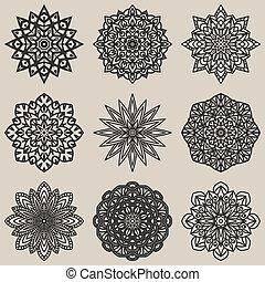 floral model, set, circulaire