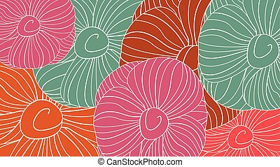 floral model, vector, seamless, achtergrond.