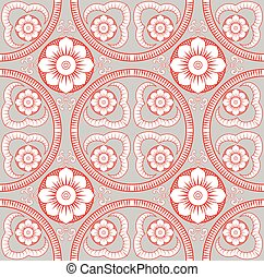 floral model, vector, seamless, achtergrond