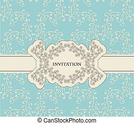 floral model, vector, seamless, uitnodiging