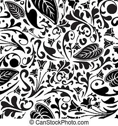floral model, witte , black