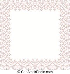 Floral Modern Vector Frame - Oriental vector abstract frame...