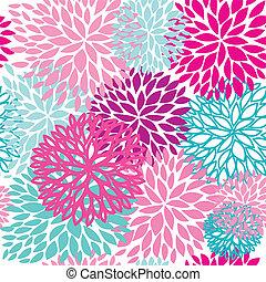 floral, mooi, seamless, model
