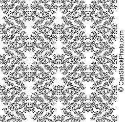 floral, motivo, azulejo, seamless, padrão, scroll
