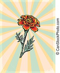 floral, motivo, fundo