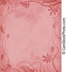 floral mottled paper red
