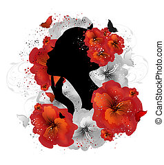 floral, mulher