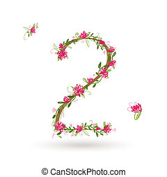 Floral number two for your design