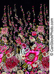 Floral on fabric for background