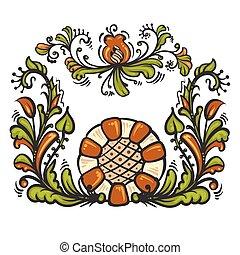 floral onderdelen, ontwerp