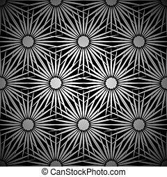 floral, ontploffing, zilver, achtergrond