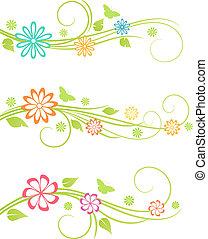 floral ontwerpen, elements.