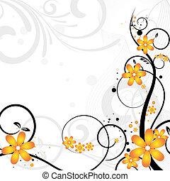 floral ontwerpen, met, bloemen