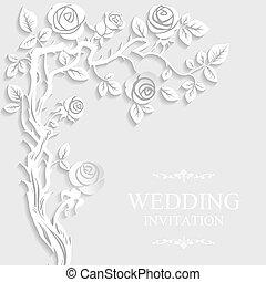 floral ontwerpen, met, schaduw