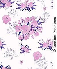 floral ontwerpen, seamless, achtergrond, jouw