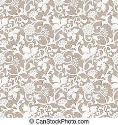 floral, ontwerper, seamless, achtergrond