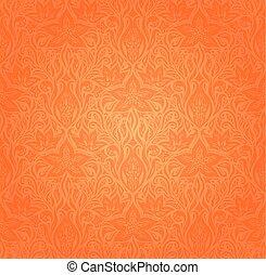 Floral Orange Retro invitation design