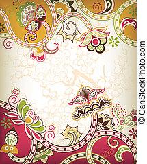floral, oriental