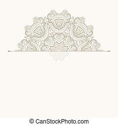 Floral oriental pattern. Beautiful Mandala. Vintage...