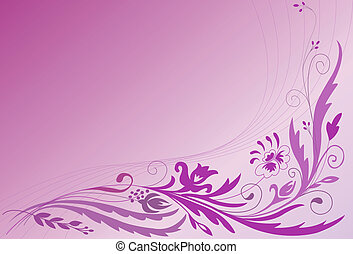 Corner floral ornament on the gradient background