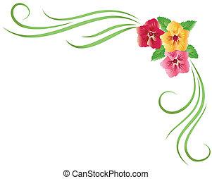 Floral ornament - Corner floral ornament