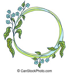 floral ornament, flower frame
