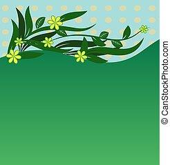 floral, ornament, -, illustratie