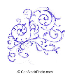 Floral ornament sketch for your design