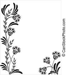 floral, ornament