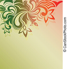 Floral ornament vector background with copy space.