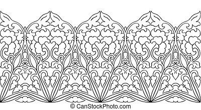 Floral ornamental border.