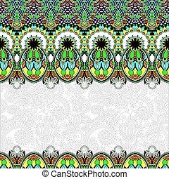 floral, ornamental, folkloric, plano de fondo, invitación