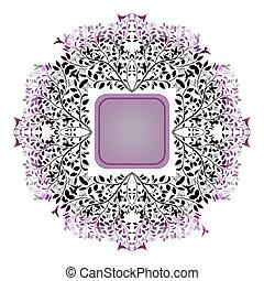 Floral ornamental frame