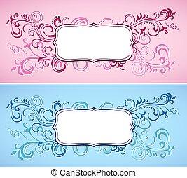 Floral ornamental frames
