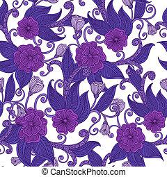 floral, ornamental, pattern., seamless