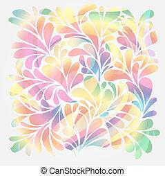 floral, ornamental, respingo, gotas, experiência.