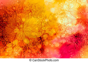 floral ornamental structure with filigrane pattern mandala on abstract background.