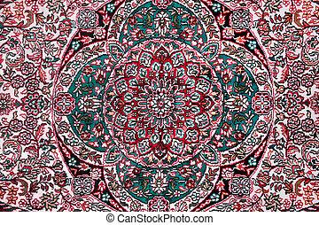 floral, ornamento, alfombra