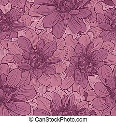floral, ornamento,  hand-drawn, flores,  seamless, patrón
