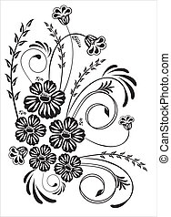floral, ornamento