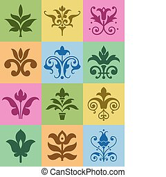 Floral Ornaments - A selection of decorative floral ...