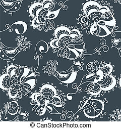 Floral ornate traditional seamless pattern