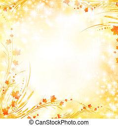 floral, otoño, plano de fondo