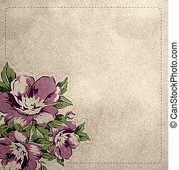 floral, ouderwetse , achtergrond