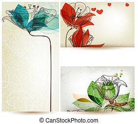 floral, ouderwetse , achtergronden