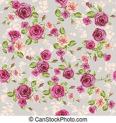 floral, ouderwetse , model