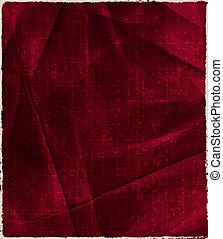 floral, ouderwetse , rode achtergrond, bruine