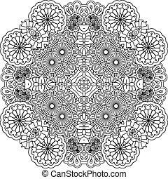 Floral outline decorative element
